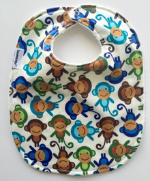 Sock Monkey Feeding bib