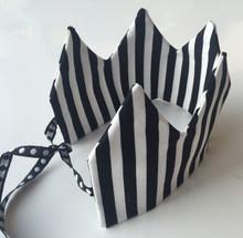 Black and White Stripe Crown