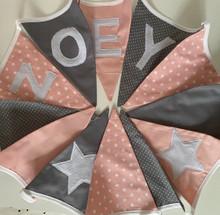 Pink & Grey Personalised bunting