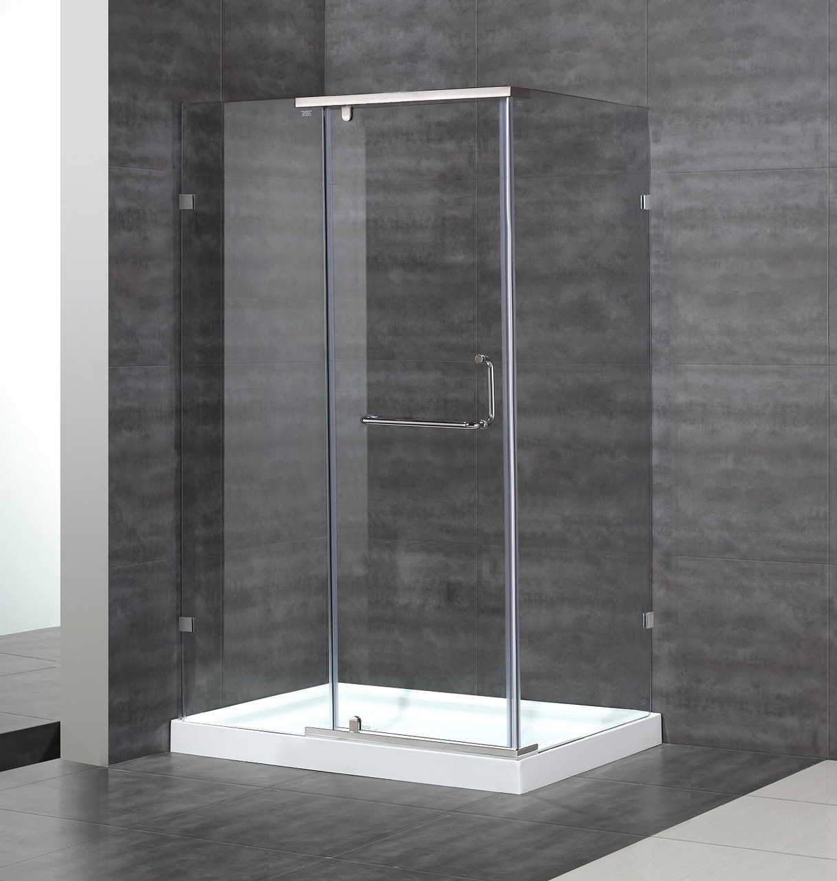 Sen975 Semi Frameless Hinge Shower Enclosure
