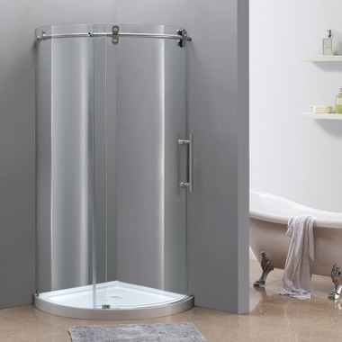 Shown in Right Hand Configuration with Stainless Steel Finish Hardware and Base