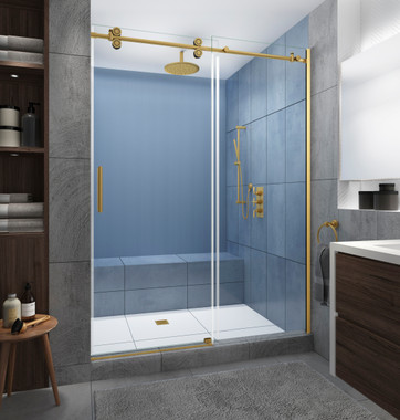 LANGHAM XL Brushed Gold Finish with StarCast Clear Glass
