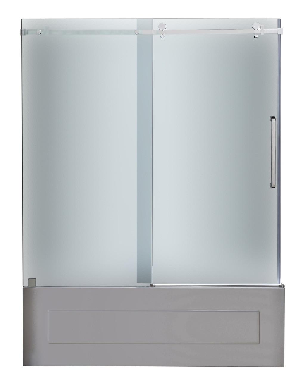 Tdr976 Moselle 60 Frameless Sliding Tub Height Shower Door