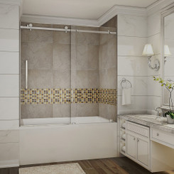 """60"""" x 60"""" - shown with Chrome Hardware"""