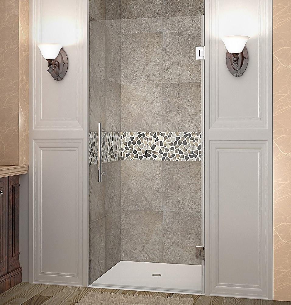 Sdr995 Cascadia Single Panel Completely Frameless Hinged Shower Door