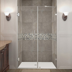 SDR985 NAUTIS Completely Frameless Hinged Shower Door