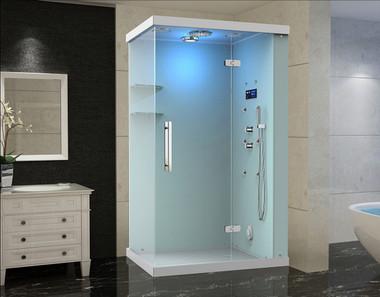Za228 Windemere Frameless Glass Rectangular Steam Shower