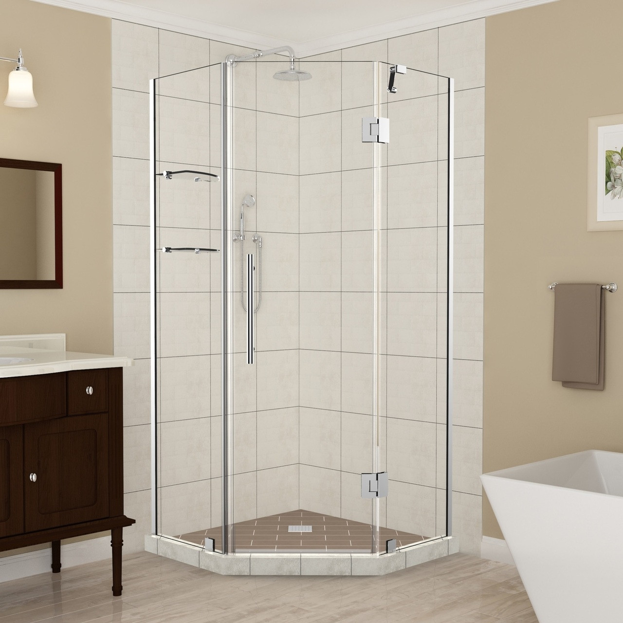 Sen961 Merrick Gs Frameless Neo Angle Shower Enclosure