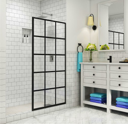SDR996-WF DURANCE Frameless French-Style Fixed Shower Door Screen with StarCast Coating