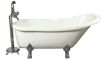 "BT686-I 67"" x 28"" Acrylic Clawfoot Slipper Tub"