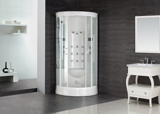"ZA218 88"" Steam Shower with 12 Body Jets"