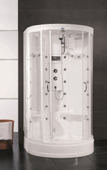 "ZA209 87"" Steam Shower with 30 Body Jets"