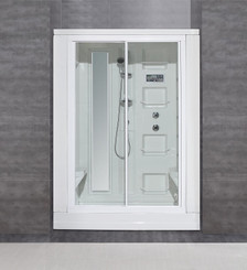 "ZA205 86"" Steam Shower with 18 Body Jets"