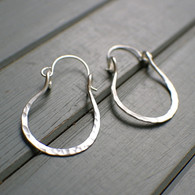 Horseshoe hoop earrings sterling silver