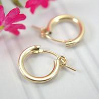 14k gold filled hollow hoop earrings 13mm