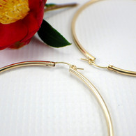 14k gold filled hollow hoop earrings 70mm extra large