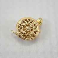 Filigree round box clasp 14k gold filled 9x12mm