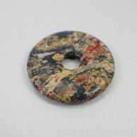 Leopardskin jasper 40mm gemstone donut