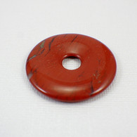 Red jasper 40mm gemstone donut