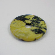 Yellow turquoise 40mm gemstone donut