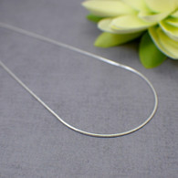 Smooth snake style necklace chain sterling silver 1mm