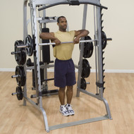 (BUNDLED PACKAGE) Body-Solid Series 7 Smith Machine w/Lat Attachment & Weight Stack