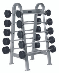 York Barbell Rubber Coated EZ Curl Bar Set and Bar Rack