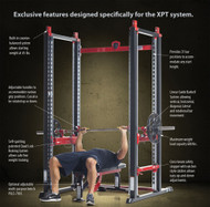 Tuff Stuff XPT Power Rack with PPF700 Multi Bench