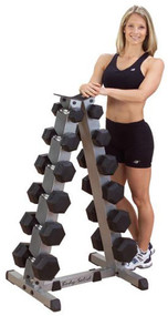 Body-Solid 6 Pair Vertical Dumbbell Rack  GDR44