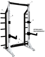 YORK Barbell STS Self Standing Half Rack   #55009