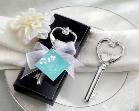 Wedding Favors - Kate Aspen Key To My Heart Victorian Style Bottle Opener