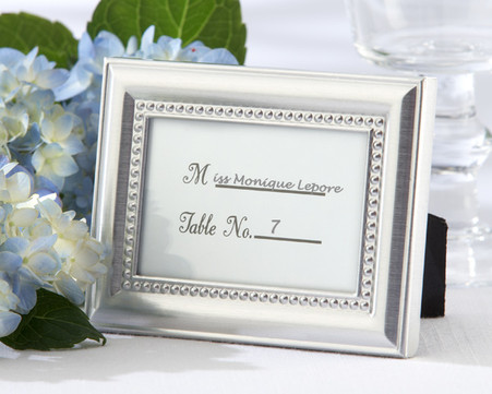Wedding Gifts  - Kate Aspen Beautifully Beaded Silver Photo Frame and Placeholder. As seen in the hit movie 27 Dresses