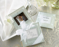 Wedding Favor Ideas and Wedding Party Favors  - Kate Aspen Good Wishes Pearlized Photo Coasters