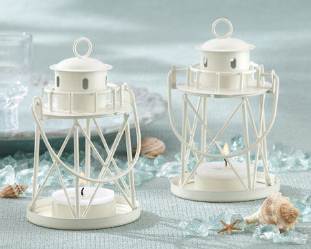 "Unique Wedding Favors - Kate Aspen ""By the Sea"" Lighthouse Tea Light Holder"