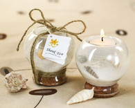 Wedding Party Favors - Kate Aspen Sand and Shell Tealight Holder