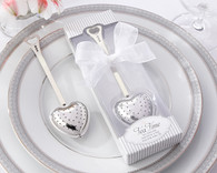 Bridal Shower Favors and Wedding Favors Canada - Kate Aspen Tea Time Heart Tea Infuser in Elegant White Gift Box