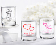 Bridal Shower Favors and Wedding Favors Canada - Kate Aspen Personalized Shot Glass/ Votive Holder