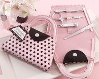 Bridal Shower Favors and Wedding Favors Canada - Kate Aspen Pink Polka Purse' Manicure Set
