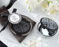 Bridal Shower Favors and Unique Wedding Favors - Kate Aspen Reflections Elegant Black-and-White Mirror Compact