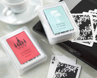Unique Wedding Favors - Kate Aspen Perfectly Suited Playing Cards in Personalized Travel Case