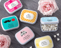 Wedding Favor Boxes and Personalized Wedding Favors - Kate Aspen Personalized Mint Tins