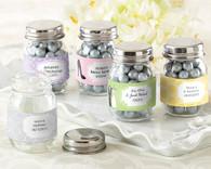Wedding Favor Boxes and Personalized Wedding Favors - Kate Aspen Mini Glass Mason Jar