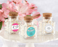 Wedding Favor Boxes and Personalized Wedding Favors - Kate Aspen Petite Treat Square Glass Favor Jar with Cork Stopper