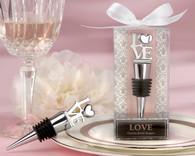 Wedding Gifts  - Kate Aspen LOVE Chrome Bottle Stopper
