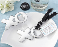 Wedding Gifts  - Kate Aspen Hugs & Kisses from Mr. & Mrs. Chrome XO Bottle Opener. Bottle Openers to make your day special.