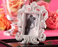 Wedding Favours - Kate Aspen White Baroque Elegant Place Card Holder and Photo Frame. Place Card Holders to make your day special.