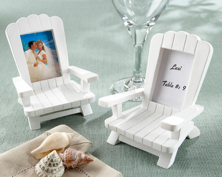 Unique Wedding Favors - Kate Aspen Beach Memories Miniature Adirondack Chair Place Card and Photo Frame. Place Card Holders to make your wedding day special.