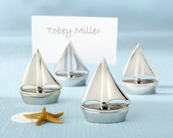 Unique Wedding Favors - Kate Aspen Shining Sails Silver Place Card Holders. Place Card Holders to make your wedding day special.