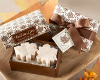 Wedding Favours - Kate Aspen Fall in Love Scented Leaf-Shaped Soaps. Scented Soaps to make your wedding day special.