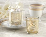 Wedding Favours - Kate Aspen Golden Renaissance Glass Tealight Holder. Candle Wedding Favors to make your wedding day special.